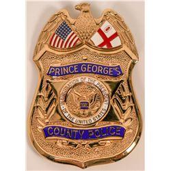 Prince George's County Police Inauguration Badge   (121899)
