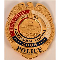Alexandria Virginia  Inaugural Police Badge  (121822)