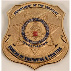 Dept of Treasury, Bureau of Engraving Inaugural Badge  (122084)