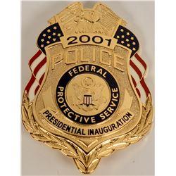 Federal Protective Services Inaugural Badge  (122086)