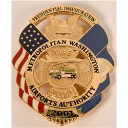 Metro Airport Fire Dept. Inauguration Badge  (121929)