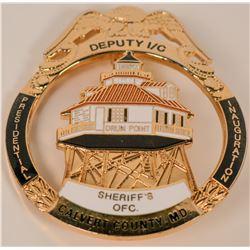 Calvert County Sheriff MD. Badge  (121855)
