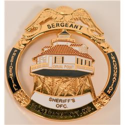Calvert County Sheriff MD. Badge  (121922)