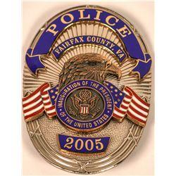 Fairfax County Police Inaugural Badge  (121896)