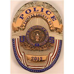 Fairfax County Police Inaugural Badge  (121850)