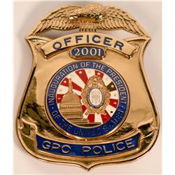 GPO Officer Inaugural Badge  (121857)