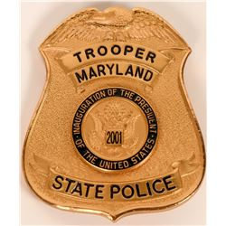 Maryland State Police Inaugural badge  (121913)