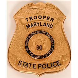 Maryland State Police Inaugural badge  (121913)