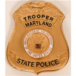 Maryland State Police Inaugural badge  (121910)
