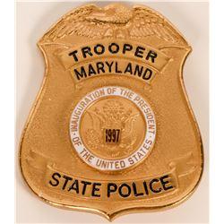 Maryland State Police Inaugural badge  (121910)