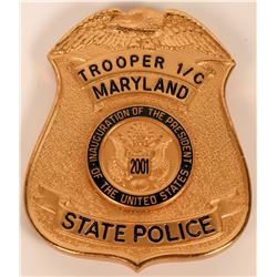 Maryland State Police Inauguration Badge  (121920)