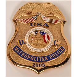 Metro Police  Inauguration Badge  (121893)