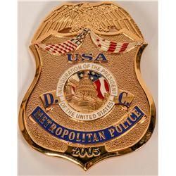 Metro Police  Inauguration Badge  (121894)