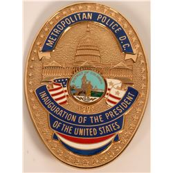 Metro Police Inauguration Badge  (121915)
