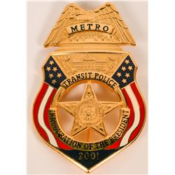 Metro Transit Police Inauguration Badge  (121890)