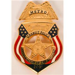 Metro Transit Police Inauguration Badge  (121890)
