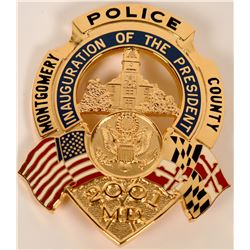 Montgomery County Inaugural Badge  (121909)