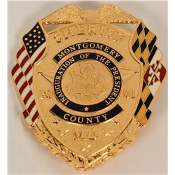 Montgomery County Sheriff Inaugural Badge  (122083)