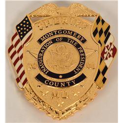 Montgomery County Sheriff Inaugural Badge  (122083)