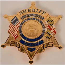 Montgomery County Sheriff Inaugural Badge  (121905)