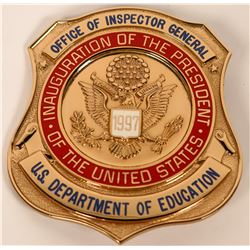 Office of Inspector General Inauguration Badge  (121914)