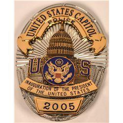 U.S. Capitol Police Inauguration Badge   (121897)