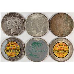Sticker Silver Dollars Group  (120275)
