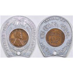Encased Penny Mt. Evans Colorado  (124182)