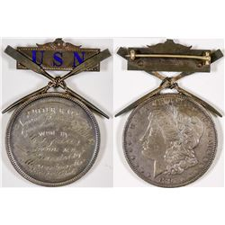 U. S. Navy Mounted 1891 Silver Dollar - Cutter Race  (126192)