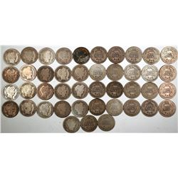 Barber Dime Collection  (122588)