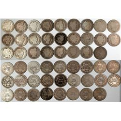 Barber Dime Collection  (122587)