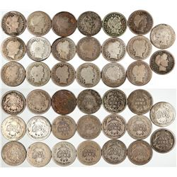 Barber Dime Collection  (122586)