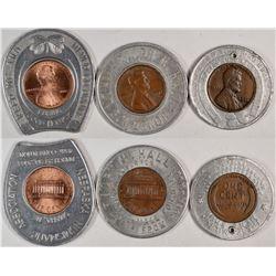 Encased Pennies (3)  (121953)