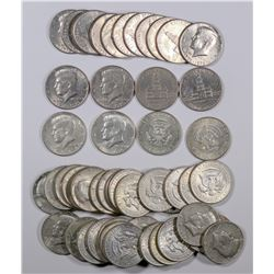 Kennedy Half Dollars: 40% silver and Bicentennial  (124144)