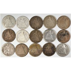 Liberty Seated Dimes  (122583)