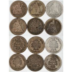 Liberty Seated Dimes 1890s  (122585)