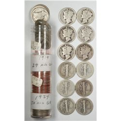 Mixed Roll of Mercury Dimes  (122582)