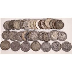 Morgan Dollars with Mint Marks (40 coins)  (124149)