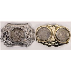 Silver  Dollar Belt Buckles  (124130)