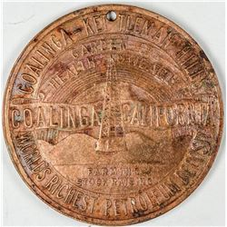 Coalings - Kettleman Hills Petrolium Deposit Medal  (122627)