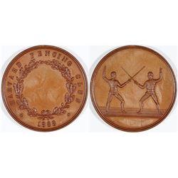 Harvard Fencing Medal  (119347)