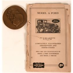 "Ford Motor Company 50th Anniversary Medallion/ Model ""A"" Manual  (124011)"