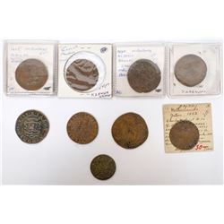 Foreign Token Group, Lot of 8  (121831)