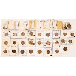 Collection of Regina Victoria Card Toekens,   (121977)
