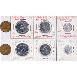 Alabama Military and Prison Tokens (4)  (124368)