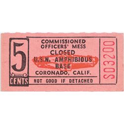 Coronado California U.S.N. Amphibious Base Token  (124403)