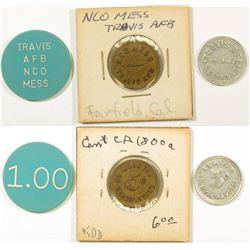 Fairfield California Travis AFB Tokens  (124385)
