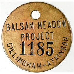 Fresno California Balsam Meadow Project Token  (122669)