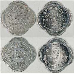 Fresno California Brunswick Billiard Tokens (2)  (122616)