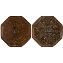 Fresno California Opera Bar Token  (120278)